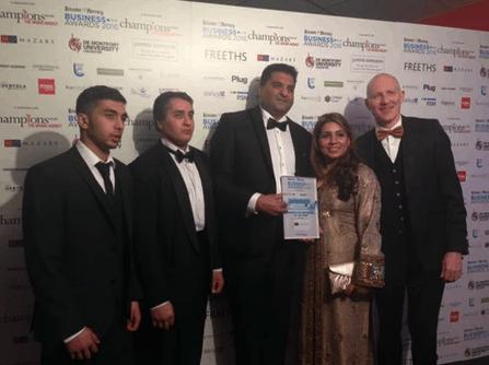 Tinku Durrani won the Business Entrepreneur of the Year 2016 award